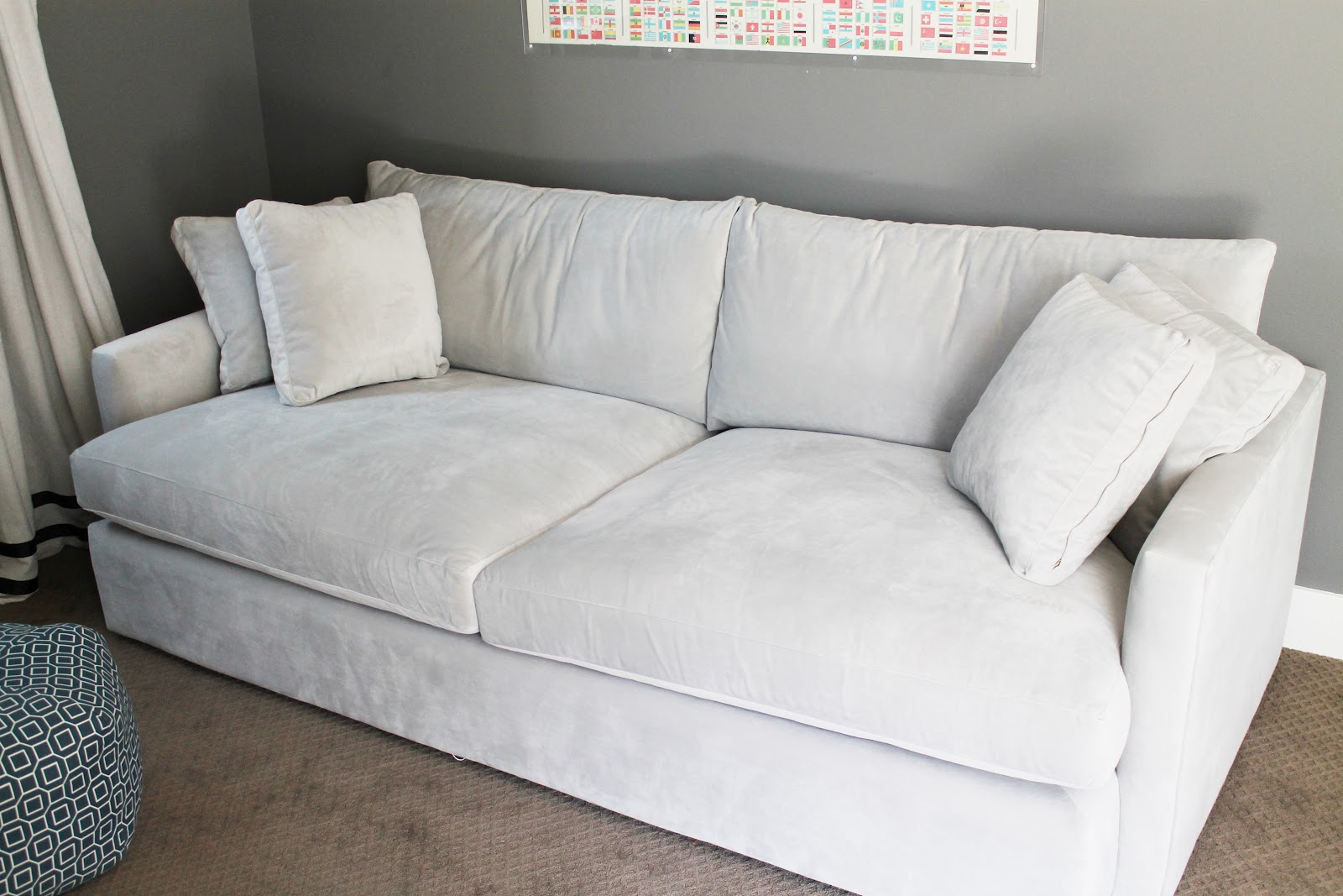 Furniture Simple But Elegant Tufted Sofa Design With Crate And. Crate And Barrel  Vaughn ...
